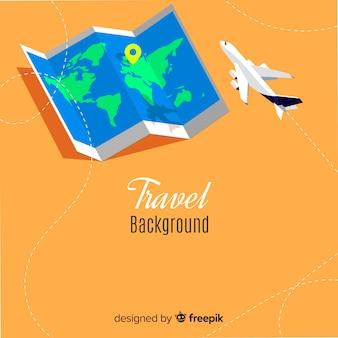 Fond de carte de voyage