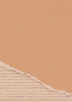 Fond en carton ondulé