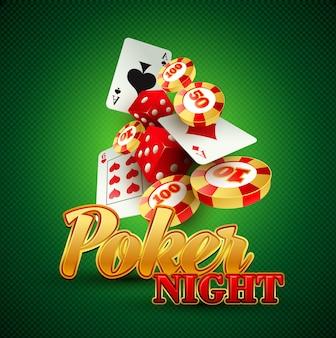 Fond de casino avec cartes, jetons, craps.