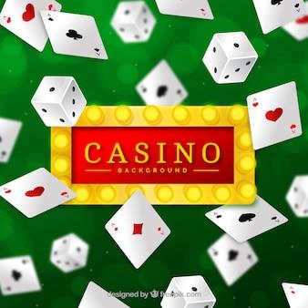 Fond de casino avec conception de cartes