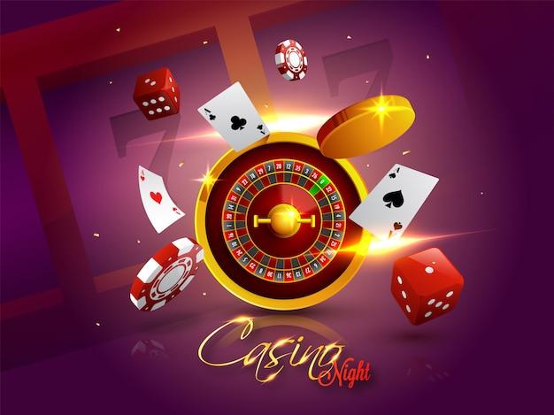Fond de casino night