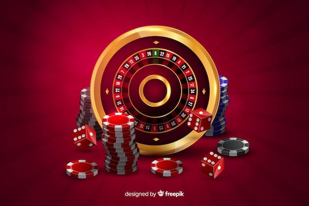 Fond de casino réaliste