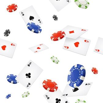 Fond de casino sans couture sur blanc. illustration vectorielle