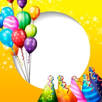 Fond de célébration d'anniversaire, ballon d'anniversaire