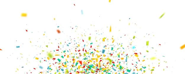 Fond de célébration avec des confettis.