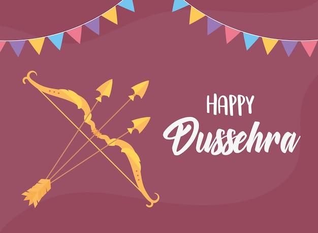 Fond de célébration du festival hindou de dussehra heureux