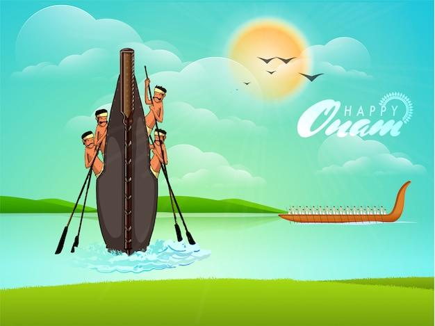 Fond de célébration du festival onam.