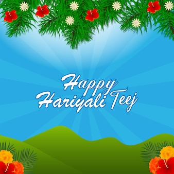 Fond de célébration du festival teej