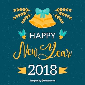 Fond de célébration du nouvel an 2018