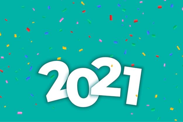 Fond de célébration du nouvel an avec des confettis