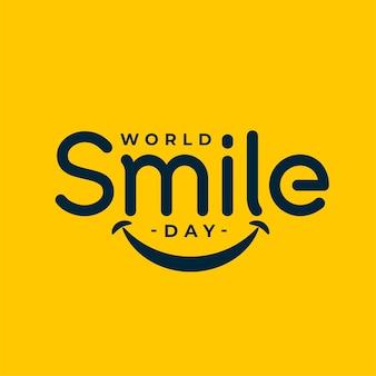 Fond de célébration de l'événement de la journée mondiale du sourire
