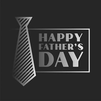 Fond de célébration de la fête des pères heureux dans le thème sombre