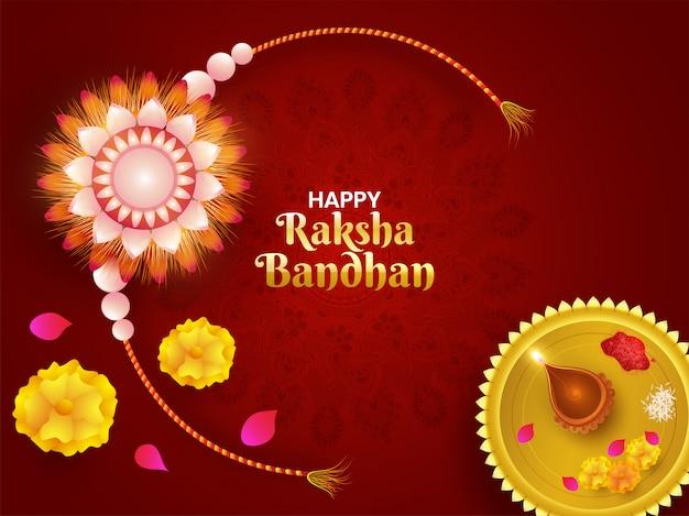 Fond de célébration heureux raksha bandhan.
