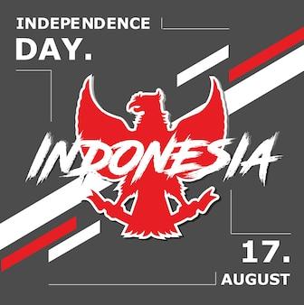 Fond de célébration de l'indépendance de l'indonésie