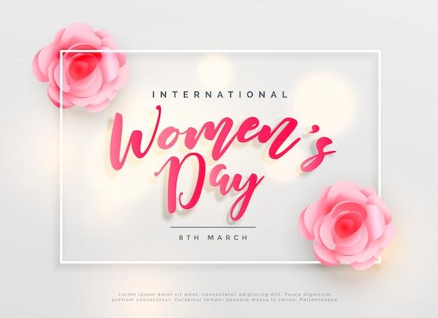 Fond de célébration internationale belle journée de femmes heureux