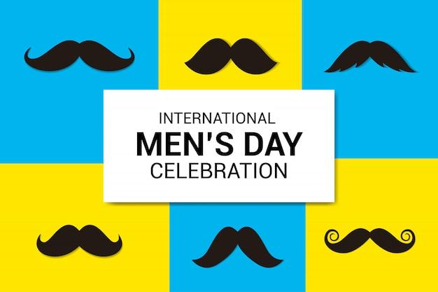 Fond de célébration de la journée internationale des hommes