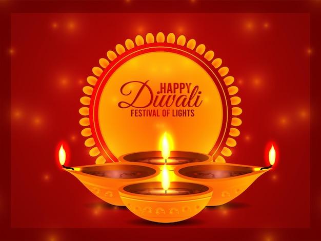 Fond de célébration joyeux diwali