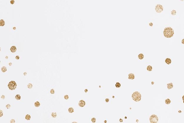 Fond de célébration de points d'or