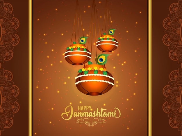 Fond de célébration shri krishna janmashtami