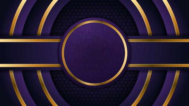 Fond de cercle abstrait avec forme d'or