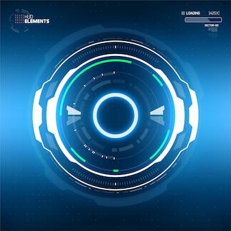 Fond de cercle abstrait technologie futuriste.