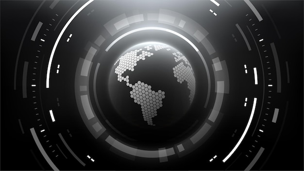 Fond de cercle abstrait technologie futuriste