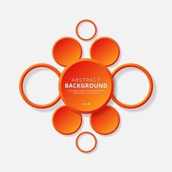 Fond de cercle abstrait