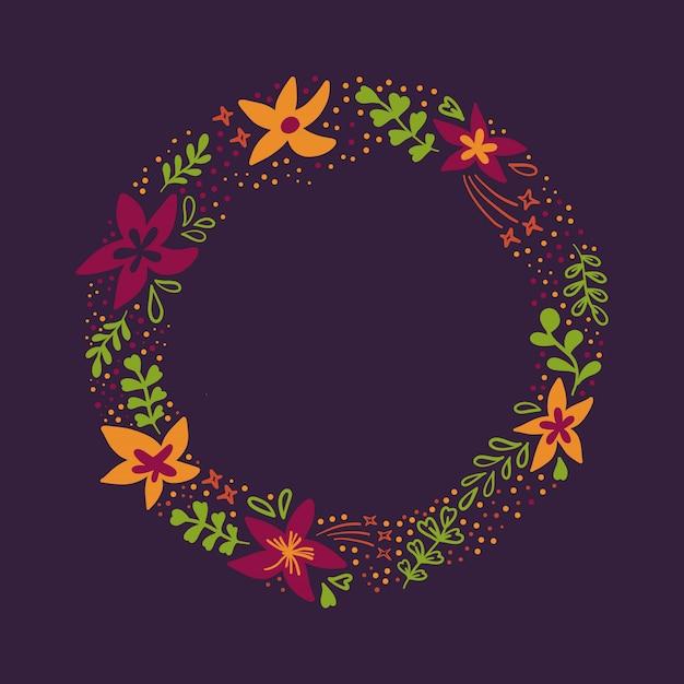 Fond de cercle de fleurs