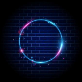 Fond de cercle de lumière cercle coloré