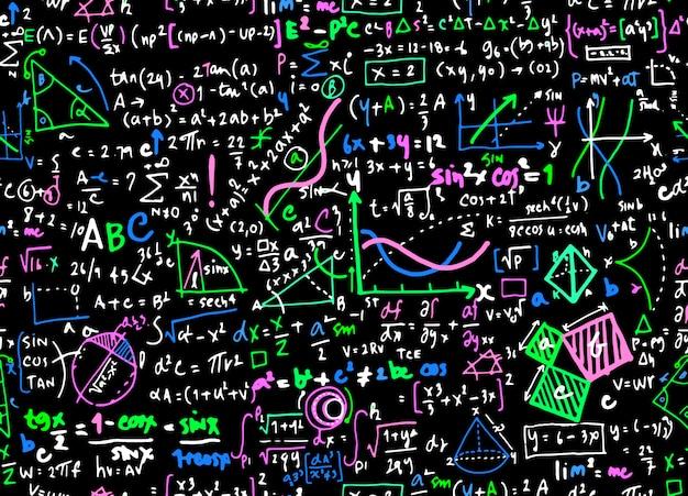 Fond de cercle math mathématique linéaire éducation