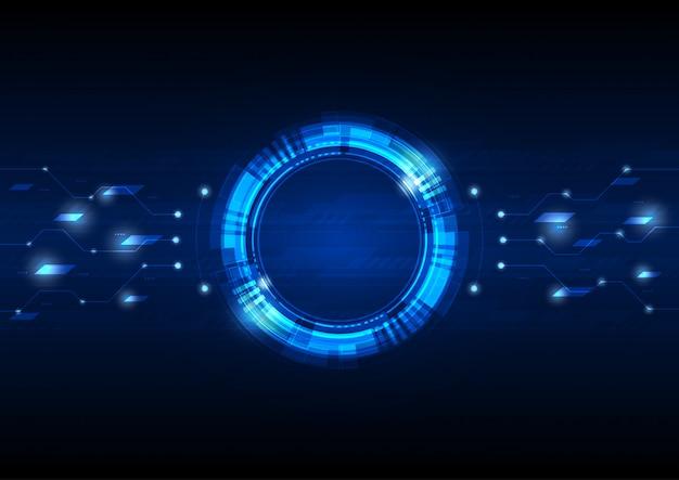 Fond de cercle numérique