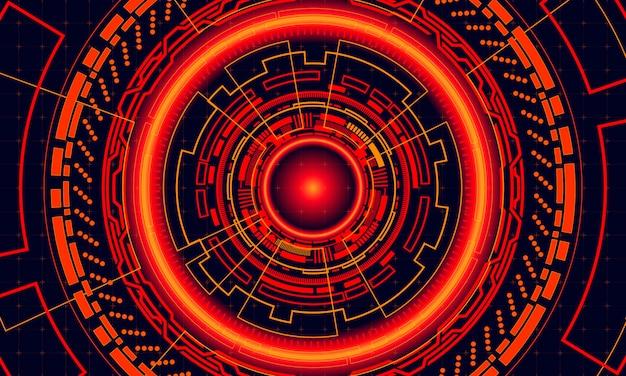 Fond de cercle rouge futuriste