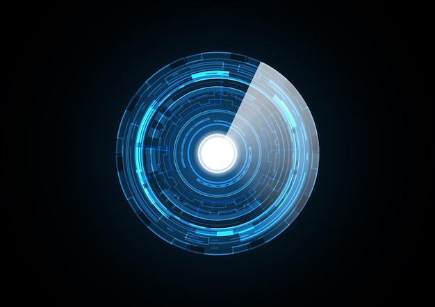 Fond de cercle de sécurité futur radar technologie abstraite