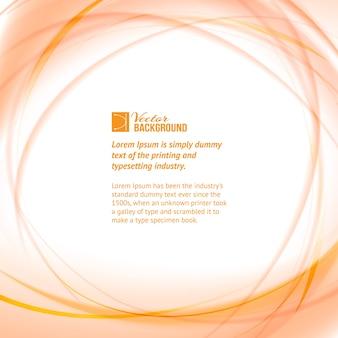 Fond avec des cercles orange et exemple de modèle de texte