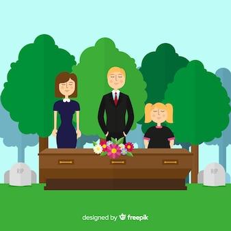 Fond de cérémonie funéraire