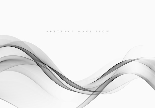 Fond de certificat swoosh lisse futuriste dégradé gris moderne ligne mise en page.