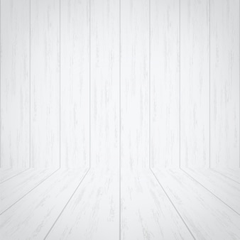 Fond de chambre en bois blanc vide.