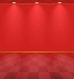 Fond de la chambre éclairée rouge
