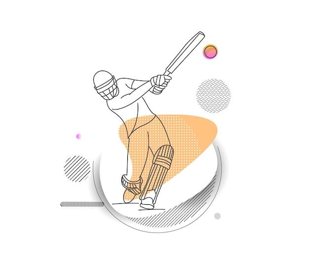 Fond de championnat de cricket abstrait illustration de la ligue de cricket.