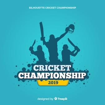 Fond de championnat de cricket créatif