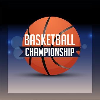 Fond de championnat de tournoi de basket-ball