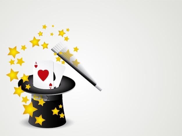 Fond de chapeau magique