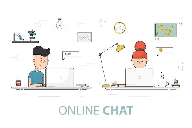 Fond de chat en ligne