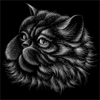 Fond de chat de style d'impression mignon.