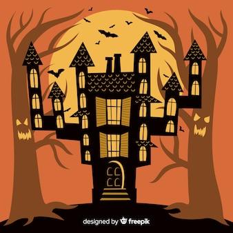 Fond de château halloween