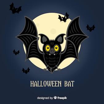 Fond de chauve-souris halloween créatif