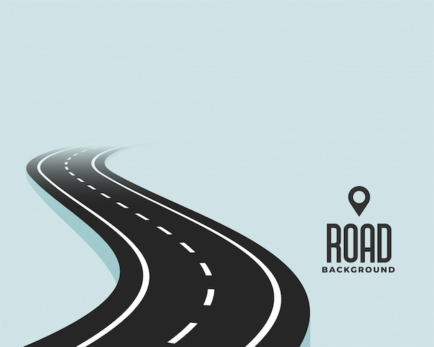 Fond de chemin de route courbe noire sinueuse