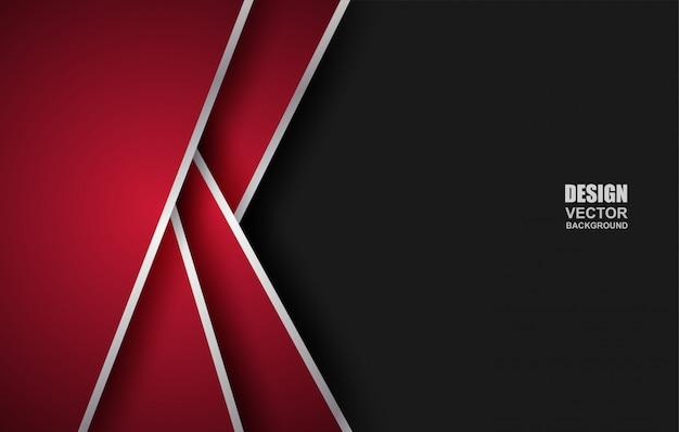 Fond de chevauchement géométrique abstrait rouge-noir