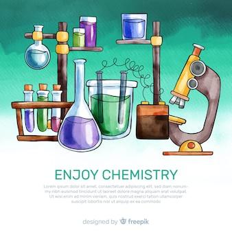 Fond de chimie aquarelle
