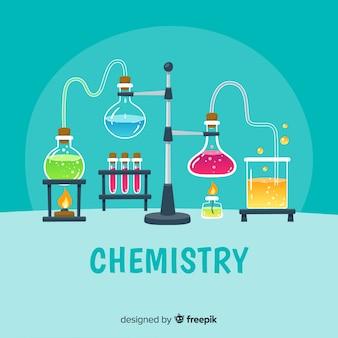 Fond de chimie dessiné à la main